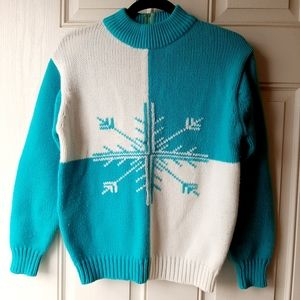 "Vintage 80's ""Ugly"" Christmas Sweater Snowflake"